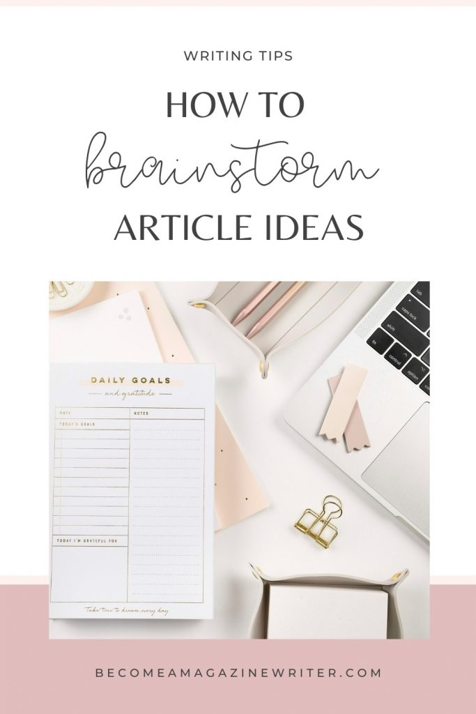 How to brainstorm a good article idea 01